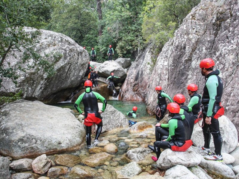 Incentive Managers 14 personnes, Activité Canyoning en Corse